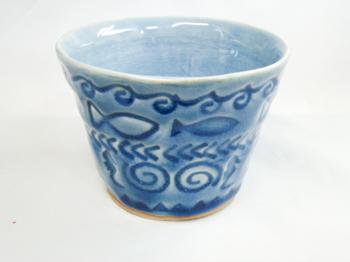 お魚花印 フリーカップ(青)2.png