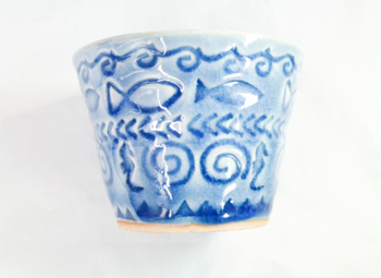 お魚花印 フリーカップ(青)6.png