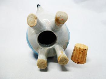 ハリネズミの塩胡椒入れ(ブルー)6.JPG