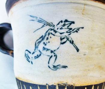 鳥獣戯画のカップ&ソーサーのセット5.JPG