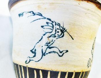 鳥獣戯画のカップ&ソーサーのセット6.JPG