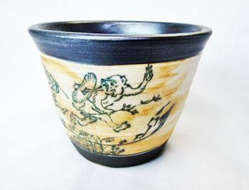 鳥獣戯画フリーカップ(アンティーク調)1.JPG