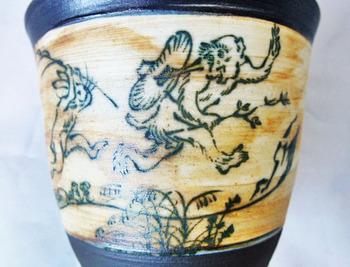 鳥獣戯画フリーカップ(アンティーク調)4.JPG