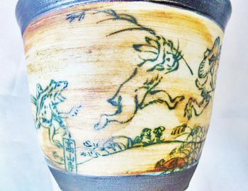 鳥獣戯画フリーカップ(アンティーク調)5.JPG